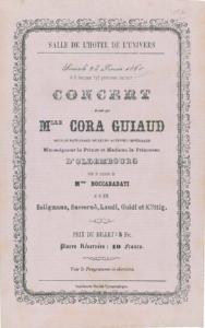 Cora Guiaud, pianiste - Ref. Affiche de concert, coll part