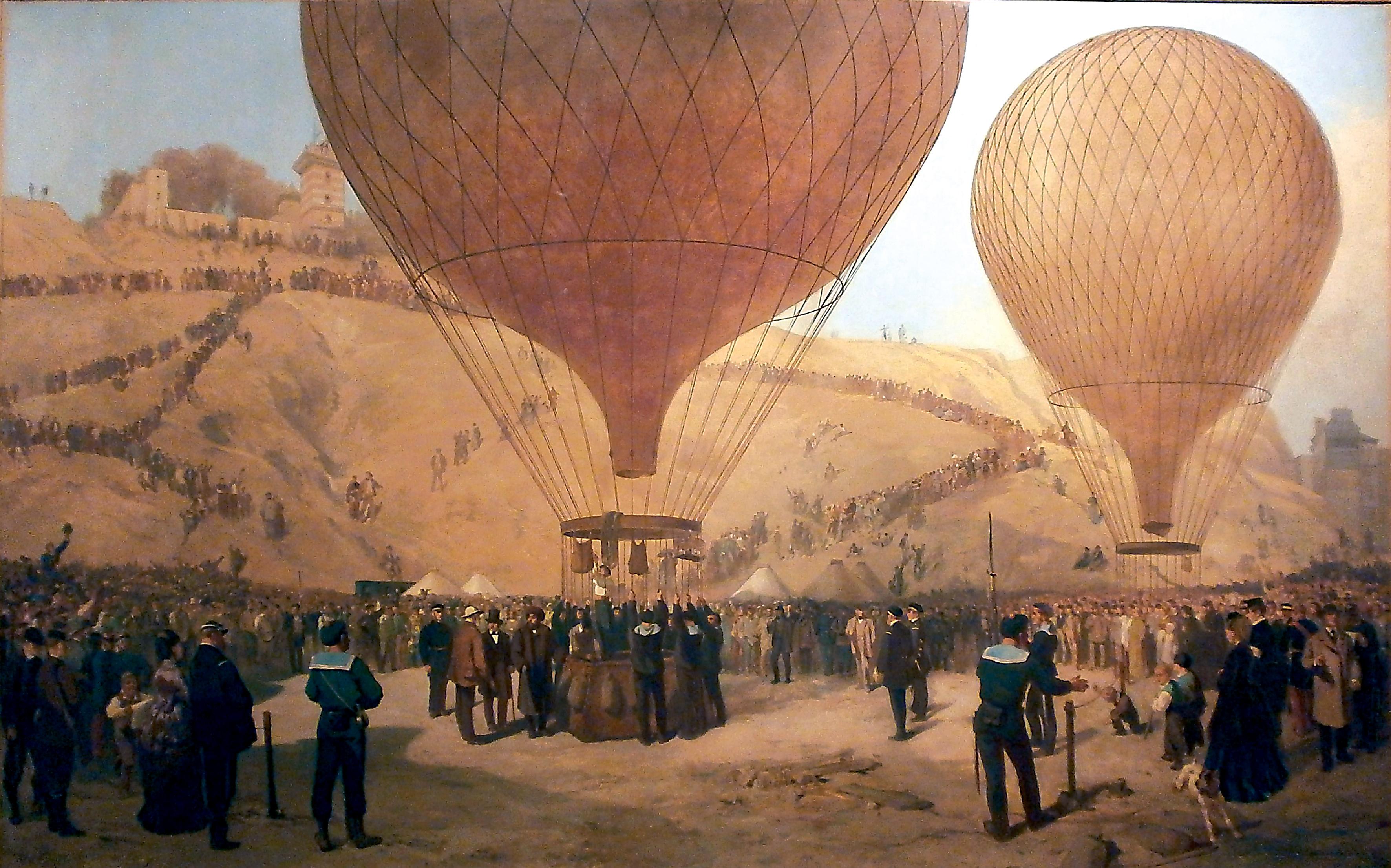 Départ de Gambetta en ballon place Saint-Pierre